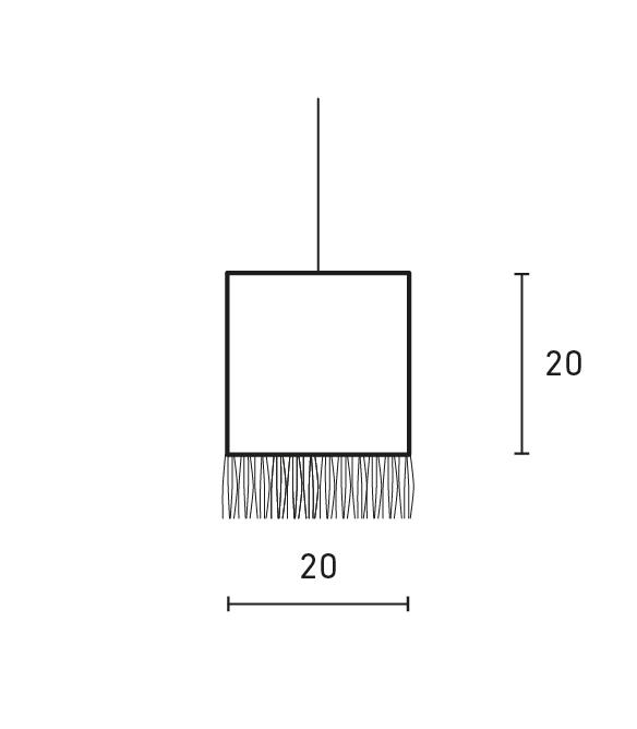 Minimal Square Fringe Lamp