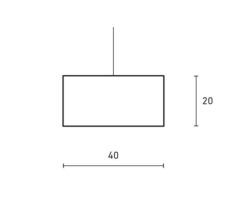 Minimal horizontal lamp
