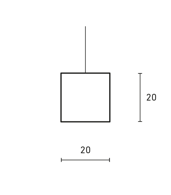 Minimal square lamp