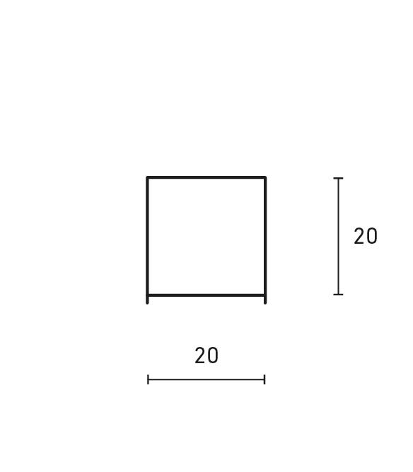 Minimal square table lamp