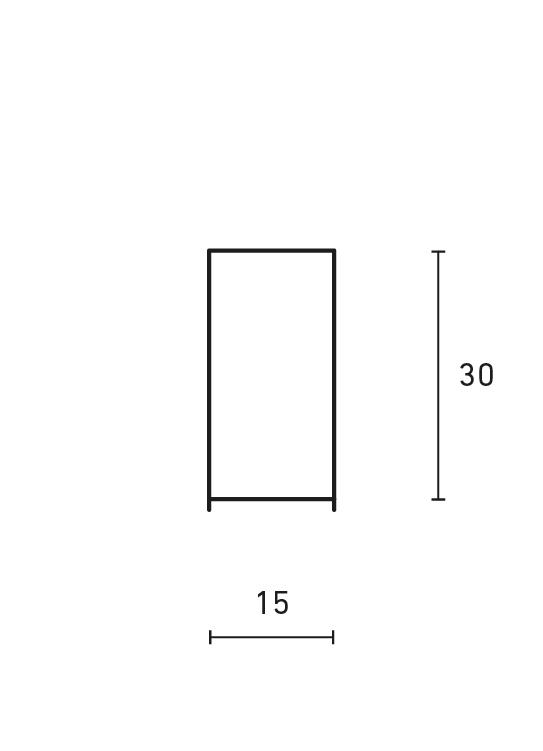Minimal rectangular Table Lamp