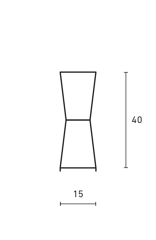 Minimal Hourglass Table Lamp